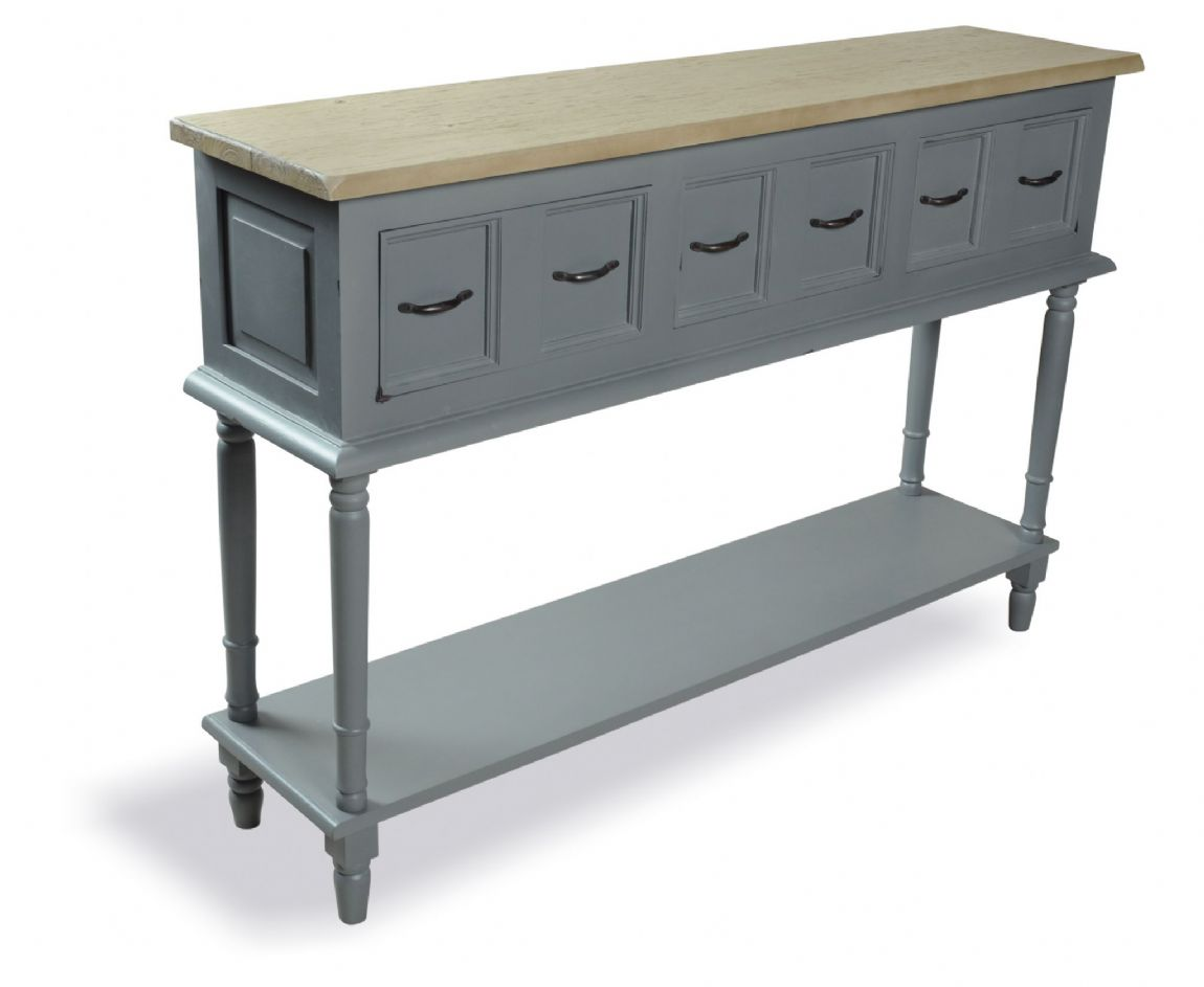 Polruan Grey Country Console Table
